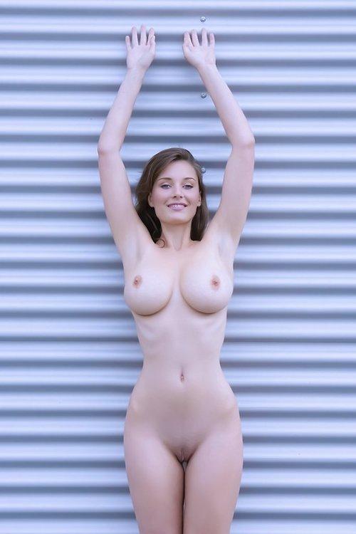mature nudist couple excited