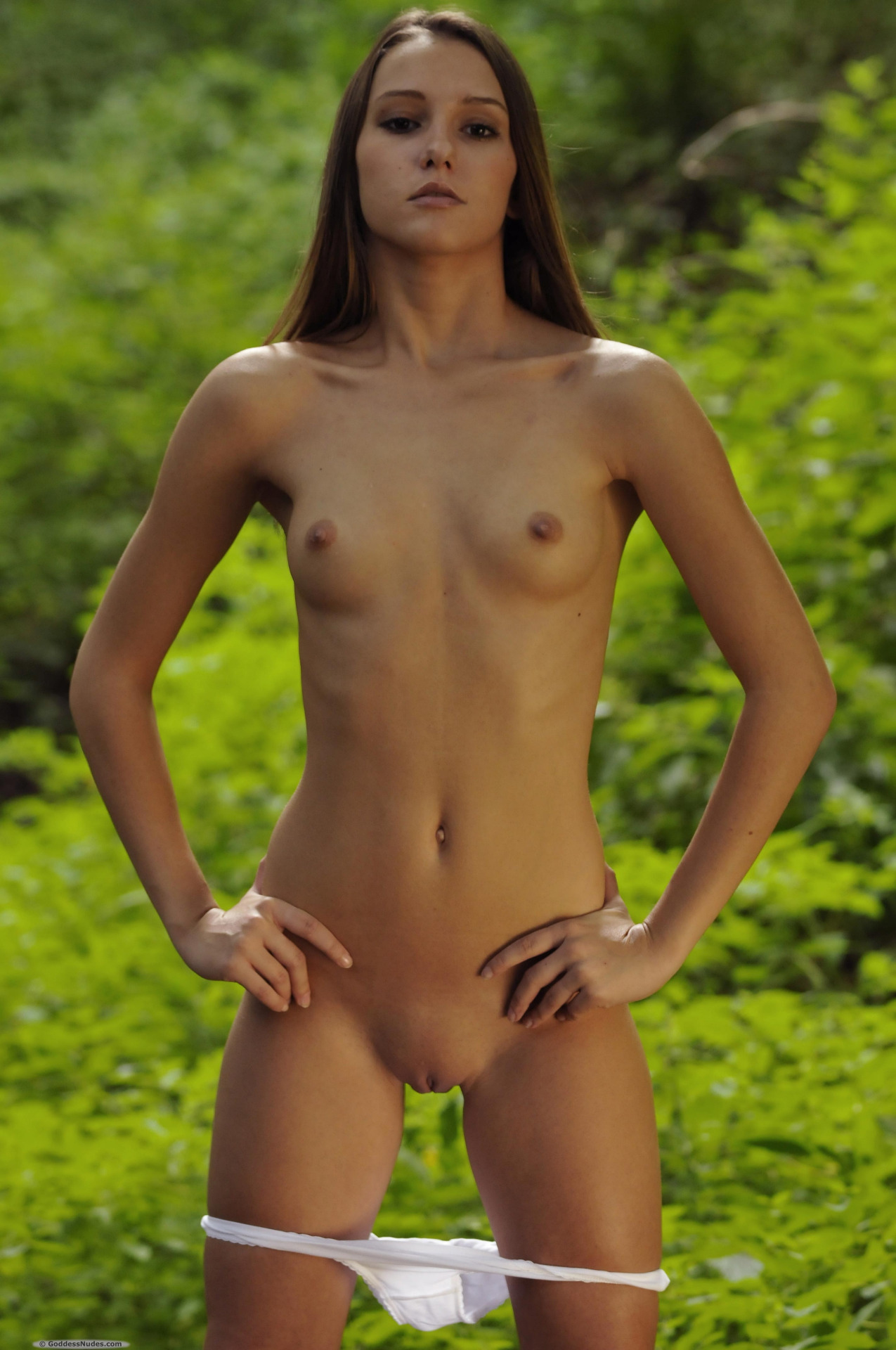 Flat chested female naked