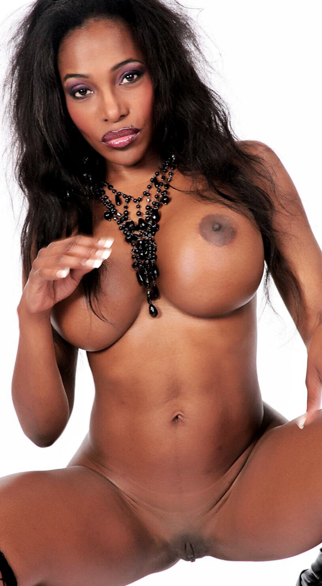 Black girls with big fake boobs