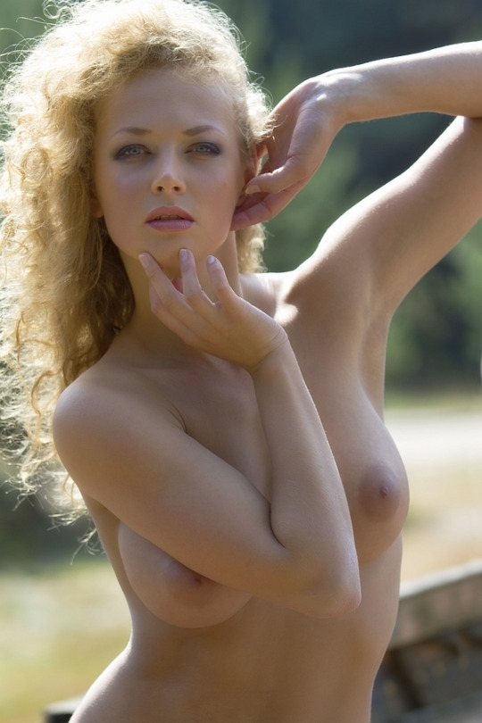 topless curly haired blonde