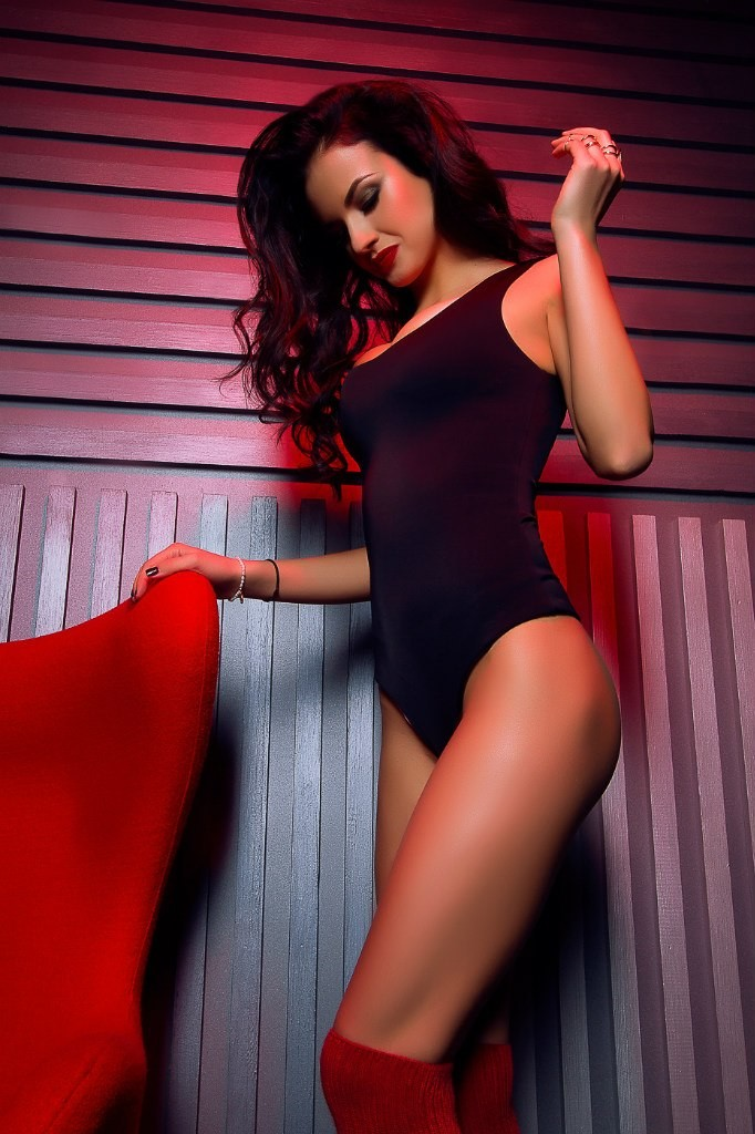 sexy girl in body suit