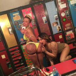 2 girls ass selfie licking ass pic