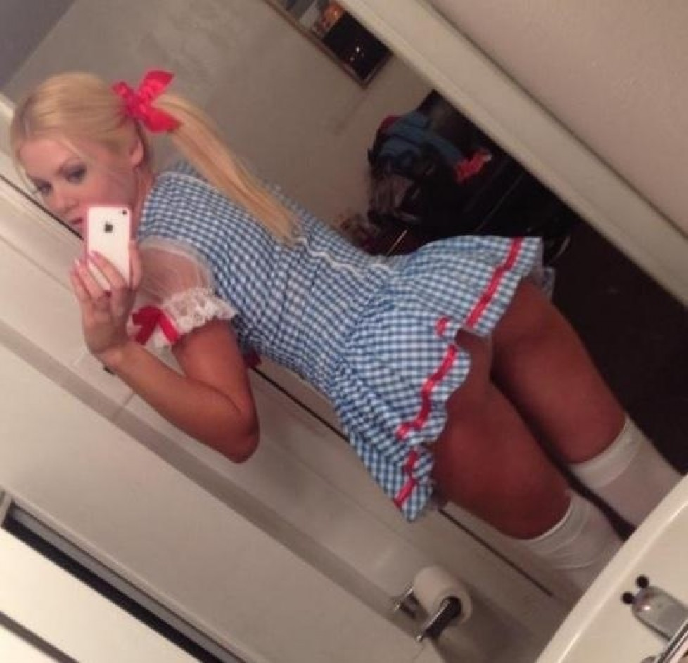 cheerleader short mini dress selfie