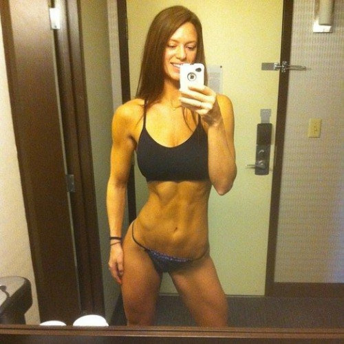fitness milf selfie in panties