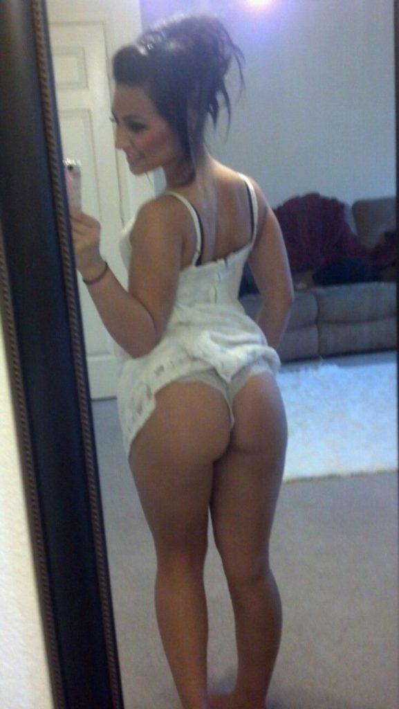 short skirt ass selfie