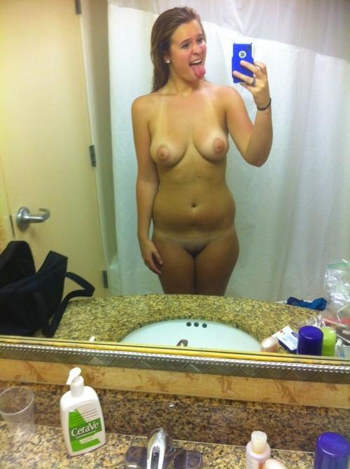 ugly nude girl selfie