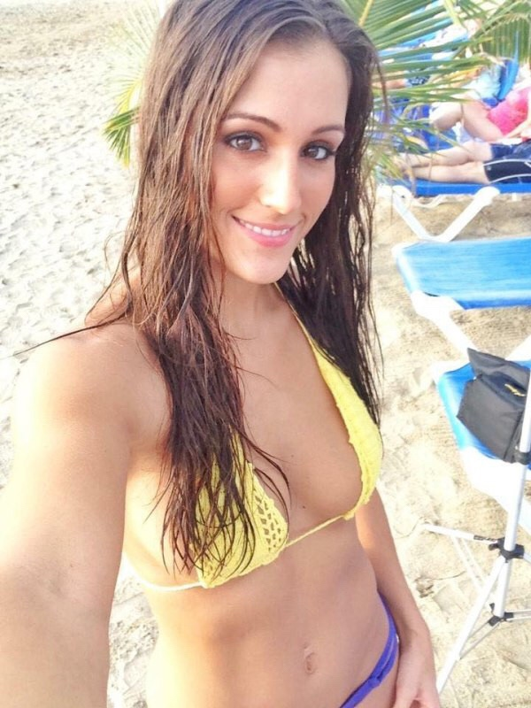wet hair girl in bikini