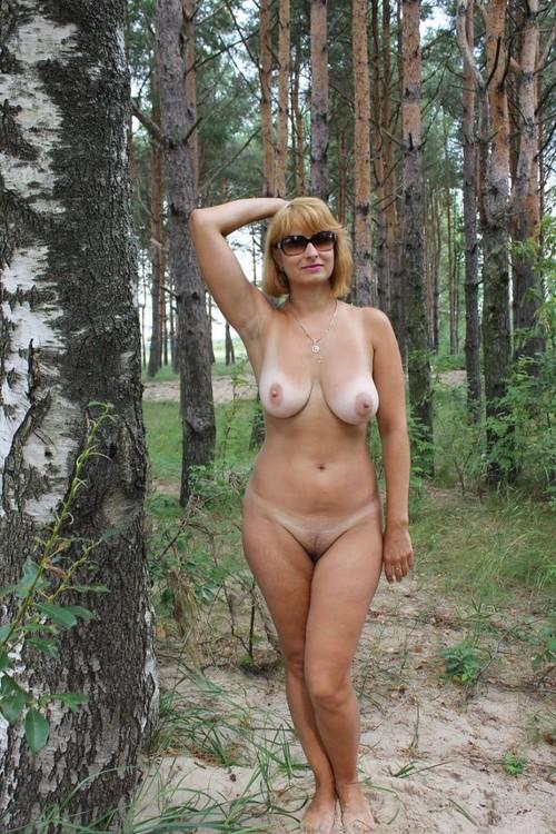 milf nude in woods