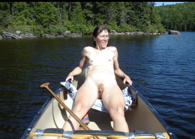nude milf on a boat