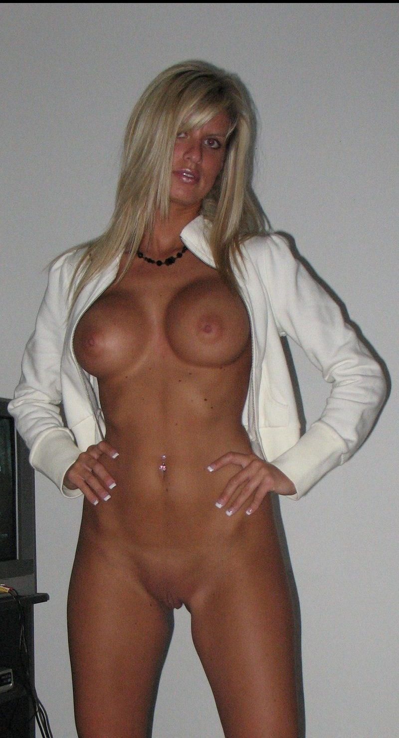 Mature blonde with fake tits